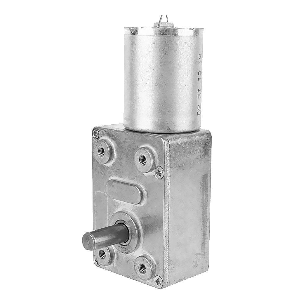Dovewill 24V DC Mini Electric Motor Steel Shaft High Torque Motor 6RPM - 150RPM 8 Kind - Silver Gray, 30RPM