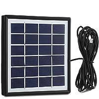 EleLight Panel Solar con Cable de Salida de 3M, Sistema de Bombillas LED Sistema de Alimentación Solar Exterior para Dispositivos Inteligentes