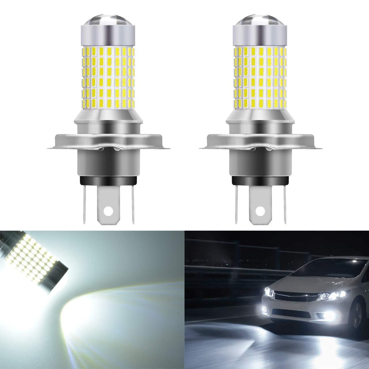 KaTur Ampoules extrê mement lumineuses 1 500 lumens 3014 144SMD 9005 HB3 H10 9145 9140 pour feux de Brouillard, clignotants, feux diurnes, 12 V-24 V, couleur blanche 6 000 K (lot de 2)