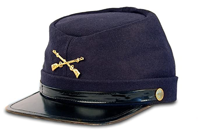 Amazon.com  Civil War Kepi Union Army Wool Hat Blue Lined US North (Hats  size 57 cm)  Clothing 6fbf750d4492