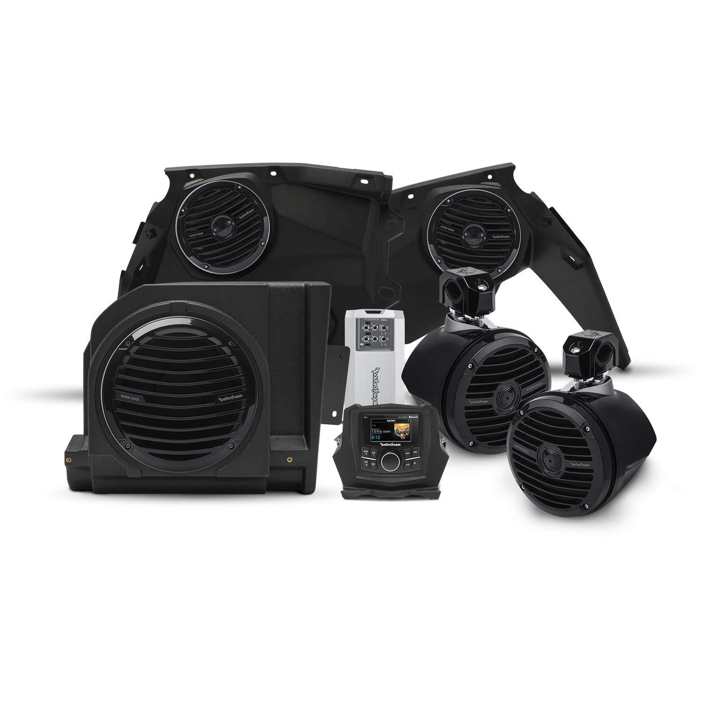 Rockford Fosgate X3-STAGE4 400 watt Stereo, Front Speaker, subwoofer, Rear Speaker kit for Select Maverick X3 Models