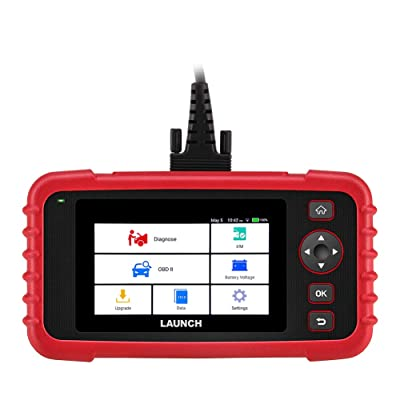 "LAUNCH Code Reader CRP123X OBD2 Scanner Scan Tool for ABS SRS Transmission Engine Code Reader Car Diagnostic Tool with Battery Test, Android 7.0 Based, 5.0"" Touchscreen, AutoVIN, Wi-Fi Free Updates: Automotive"