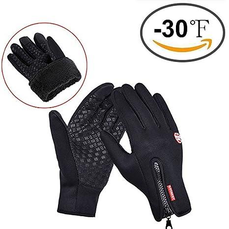 COTOP Gants d hiver, Sports Outdoor Femmes et Hommes Warmer Gants tactiles  avec Fermeture 88890a3df3c