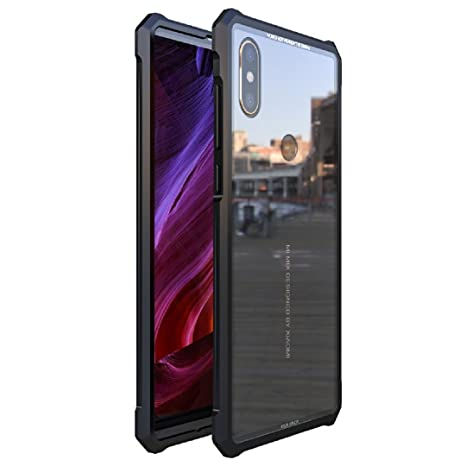 new product 28bd9 eb54f Mi Mix2S Bumper Case, Eye-Catching Awesome Aviation Aluminum Metal Frame  Anti-Drop Tough Clear Glass Back Slim Cover, TAITOU Newest Cool Light Thin  2 ...