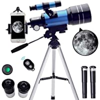 ToyerBee Telescope for Kids&Beginners, 70mm Aperture 300mm Astronomical Refractor Telescope(15X-150X), Portable Travel…