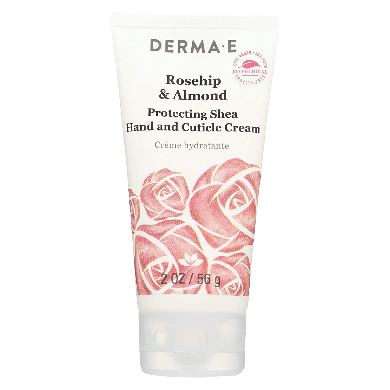 DERMA E Rosehip & Almond, Protecting Shea Hand and Cuticle Cream, 2 oz
