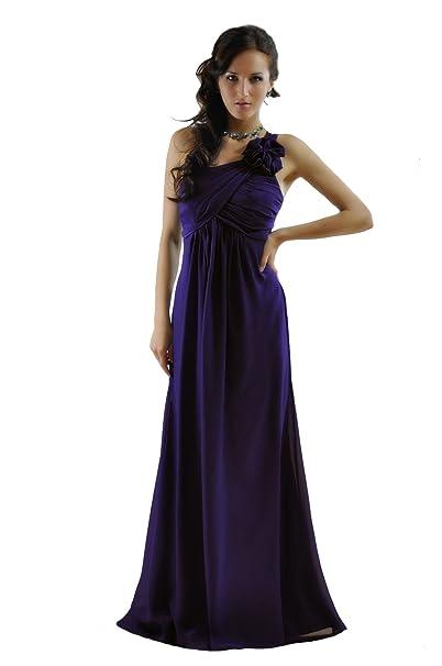 Noche vestido de dama de un hombro hermoso del trullo, violeta y azul de medianoche - ED8895: Amazon.es: Ropa y accesorios