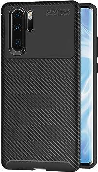 AICEK Funda Huawei P30 Pro, Negro Silicona Fundas para P30 ...