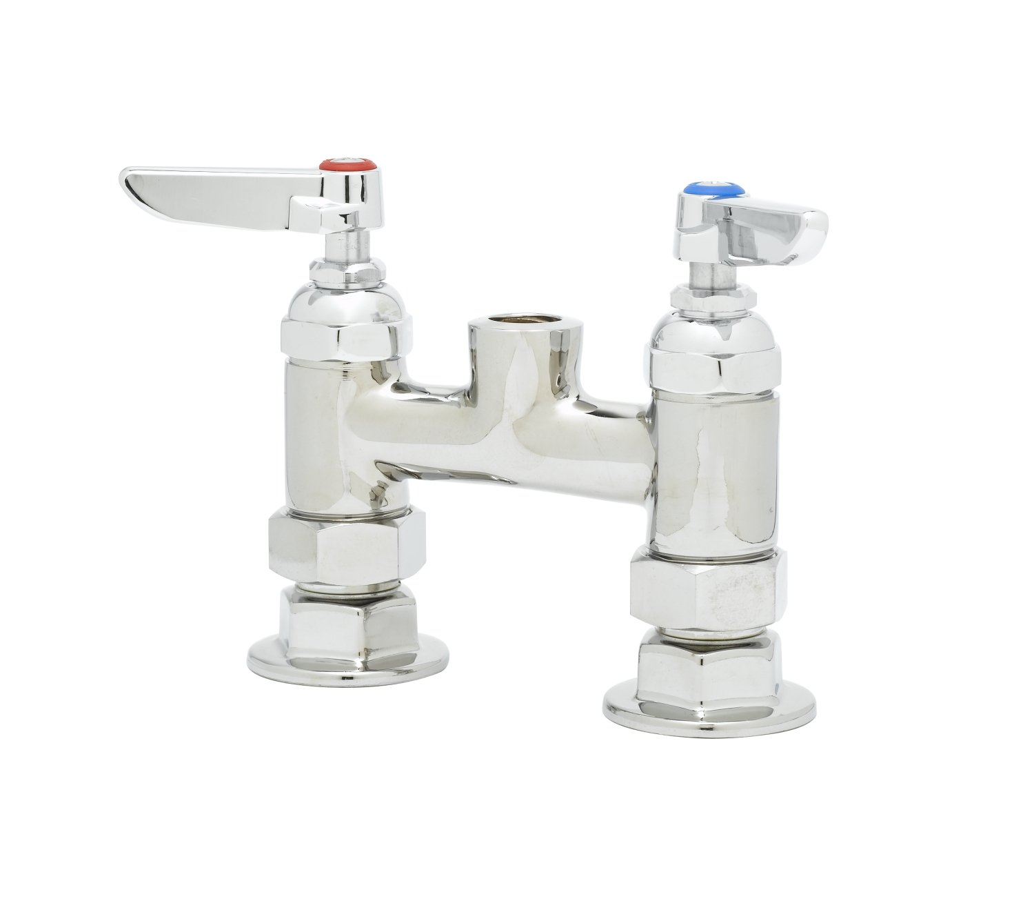 T&S Brass B-0326-LN Deck Mount Double Pantry Rigid Base Faucet with Less Nozzle by T&S Brass