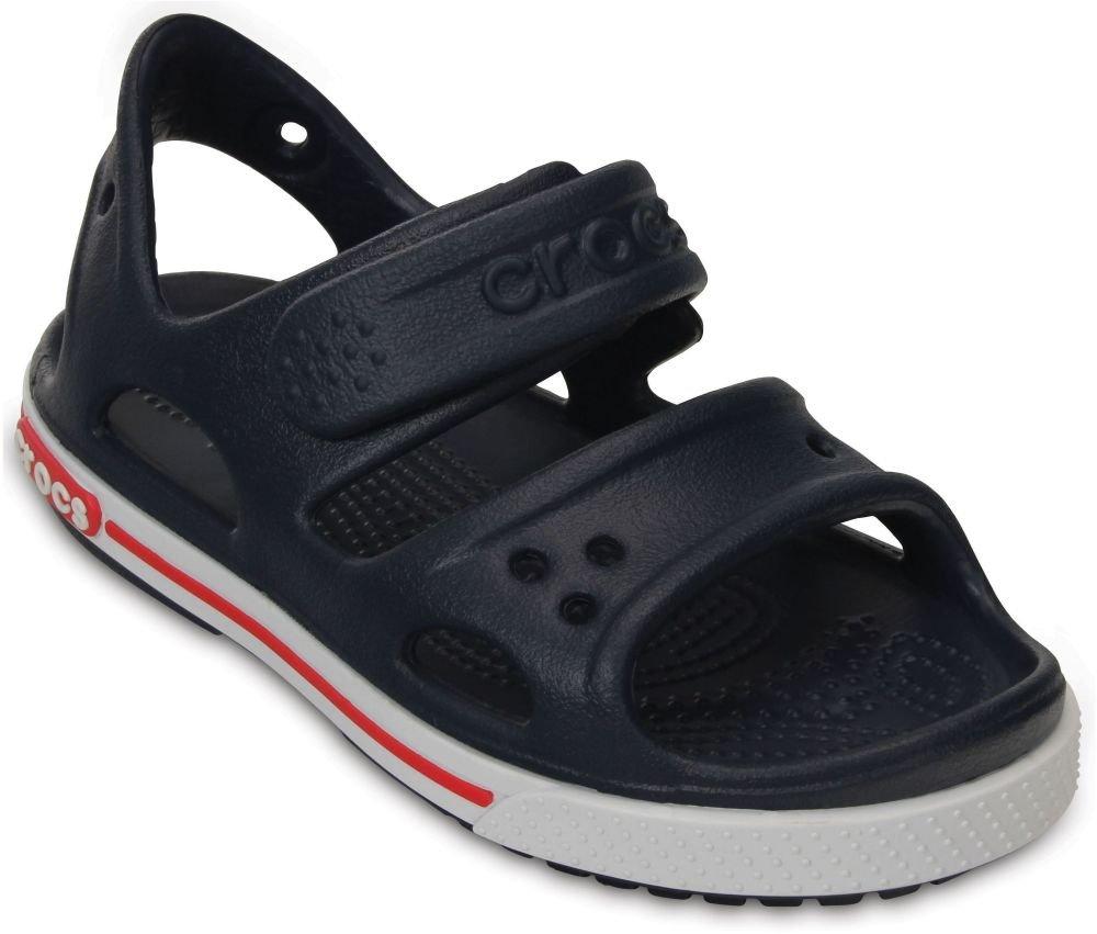 Crocs Kids Unisex Crocband II Sandal (Toddler/Little Kid) Navy/White Sandal by Crocs