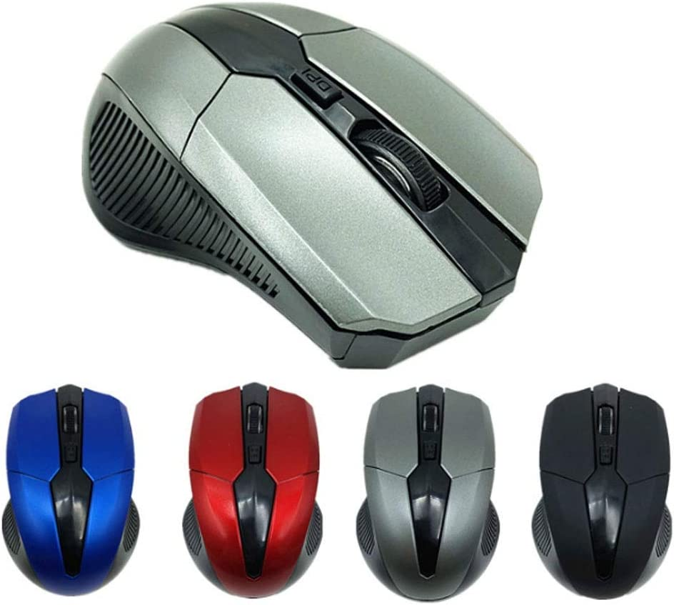 Wireless Gaming Mouse Mice Optical Mouse Cordless USB Receiver PC Computer Wireless for Laptop Gamer Color : Black