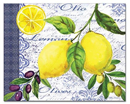 CounterArt Lemons Olives Glass Cutting