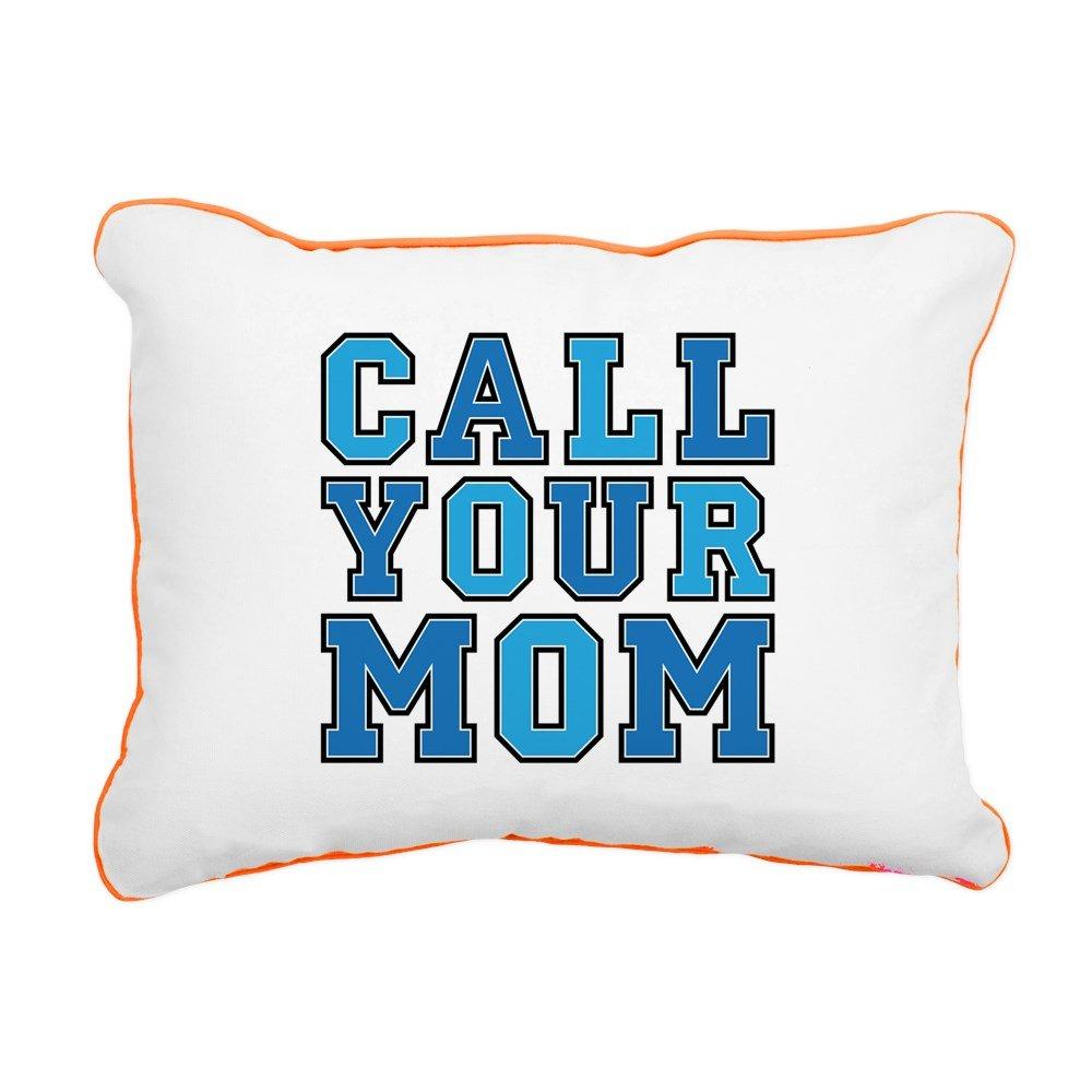 CafePress - Call Your Mom Rectangula - 12''x15'' Canvas Pillow, Throw Pillow, Accent Pillow