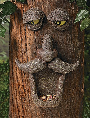 Birdfeeder Tree Face Sculpture Outdoor Yard Garden Hugger Decor