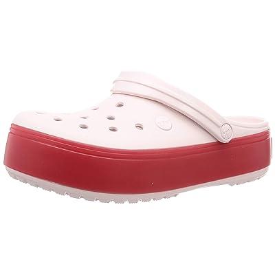 Crocs Crocband Platform Clog|Comfortable Fashion Shoe, Barely Pink/Pepper, 6 US Women / 4 US Men | Mules & Clogs