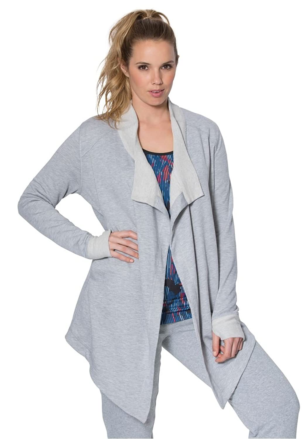Fullbeauty Sport Women's Plus Size Draped Cardigan