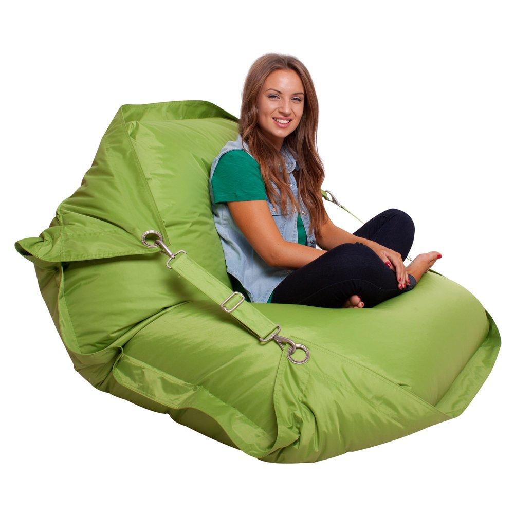 Bazaar Bag® flex, poltrona a sacco gigante, per interno e esterno con cinghie, verde lime, pouf Bazaar Bag® flex Bean Bag Bazaar®