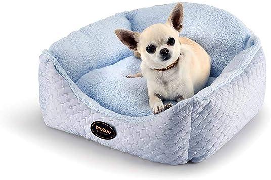 biozoo, Cuna desenfundable para Perros (Azul) - Talla 2: 43cm x ...