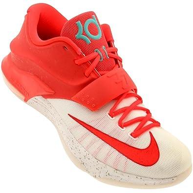 finest selection ab850 96a42 NIKE KD7 Men s Basketball Shoe (9.5, Bright Crimson Ivory)