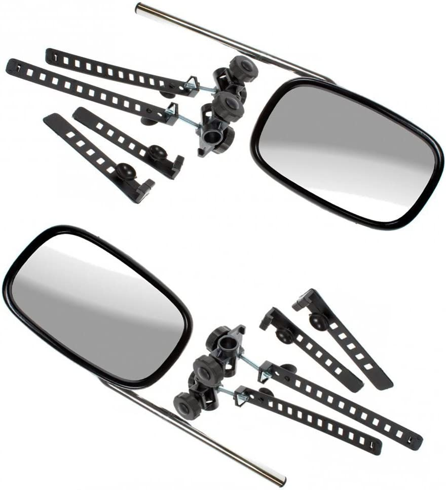 Skoda Octavia Caravan Trailer Extension Towing Dual Mirror Glass Convex Pair