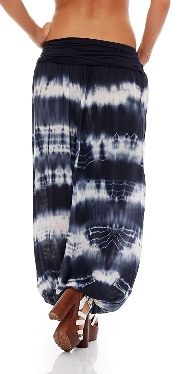 malito more than fashion - Pantalón - para mujer azul oscuro Einheitsgröße: Amazon.es: Ropa y accesorios