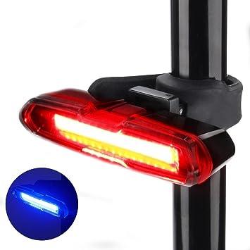 Reboos USB Rechargeable LED vélo rouge arrière feux de sécurité lumière arrière