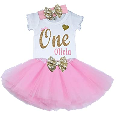 eb5cc04a2 Amazon.com  Bella Fashion Kidz Girl First Birthday Tutu Outfit Pink ...