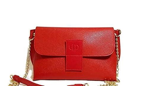 Loeds-Cartera de mano con asa metalica para colgar -Rojo-Rebajado: Amazon.es: Zapatos y complementos