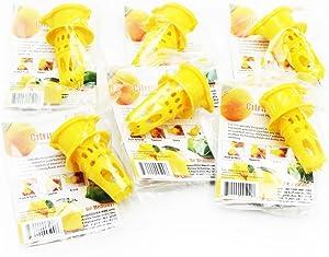 EcoJeannie 6 Pack Citrus Tap, Portable Lemon Juicer Faucet (Patent Pending), Lime Squeezer, Juice Extractor- BPA Free Hormone Free