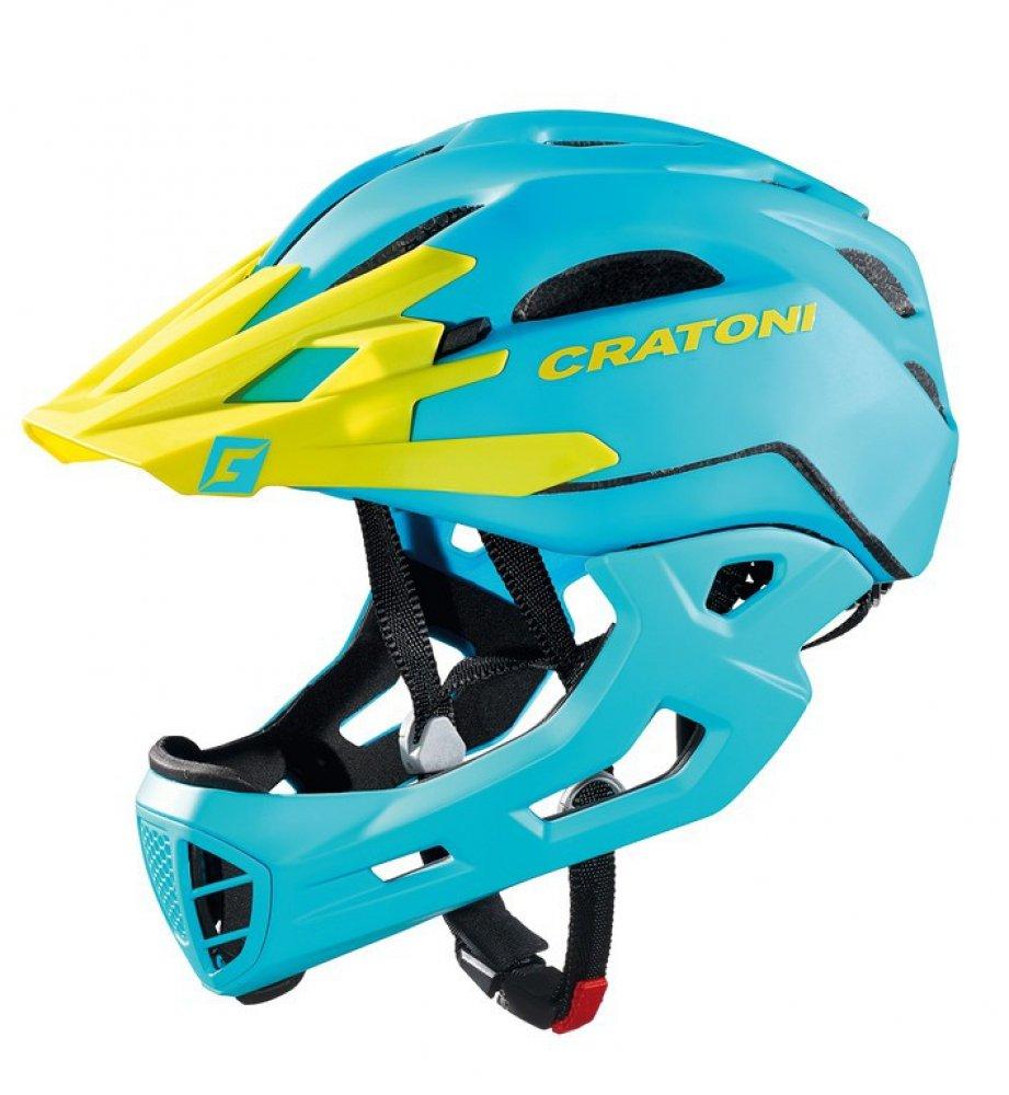Fahrradhelm Cratoni C-Maniac (Freeride), Gr. M L (54-58cm) blau lime matt