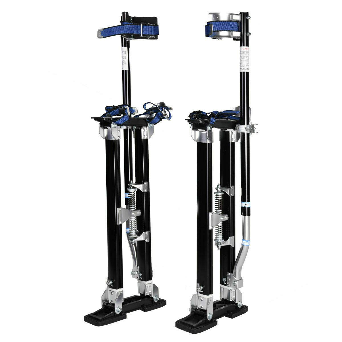 NanaPluz Aluminum Height Adjustable 24''-40'' Painter Taping Drywall Stilts Painting Tool Ergonomics Design - Black with Ebook by NanaPluz