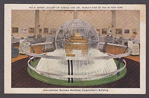 Science Gallery - Focal Exhibit Gallery of Science & Art World's Fair New York 1940 IBM postcard