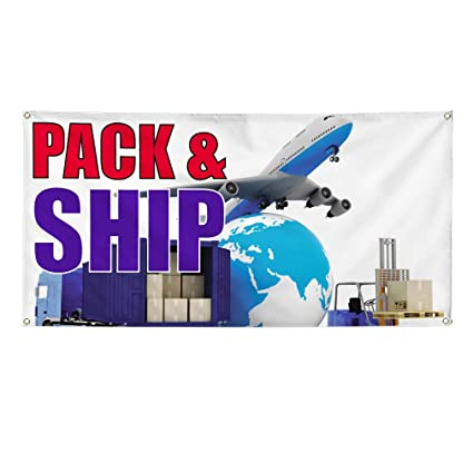 Amazon com : Vinyl Banner Sign Pack & Ship Business Pack