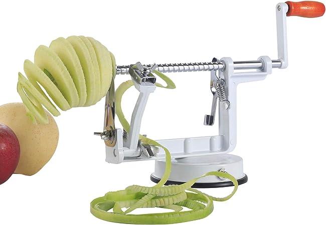 3 en 1 Slinky Machine Durable Heavy Duty Die Apple Peelers avec Ventouse Newin Star Apple Peeler