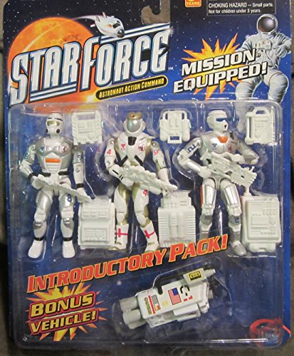 STAR FORCE 3-Astronaut Action Figures with Space Vehicle and Accessories!!