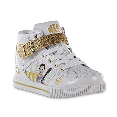 Star Wars Sneakers >> Amazon Com Star Wars Girl S Fashion Sneakers 1 Medium White Gold