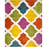 Safavieh Kids Shag Collection SGK562A Ivory and Multi Area Rug (8'6″ x 12′) Review