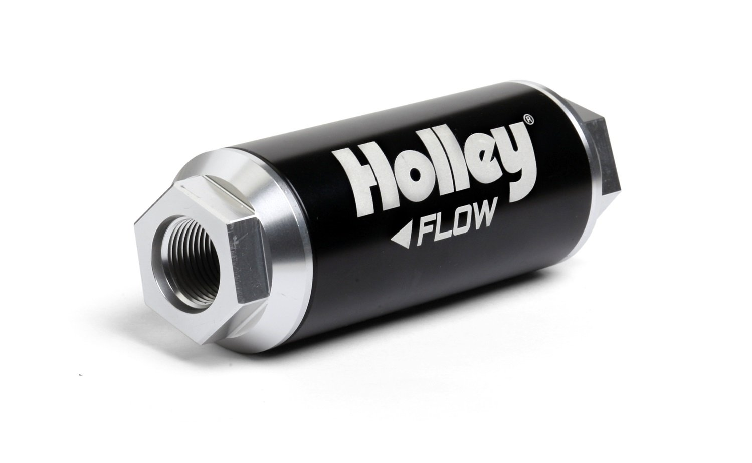 Holley 162-571 HP -12AN Inlet/Outlet 40 Micron 260 GPH Billet Fuel Filter