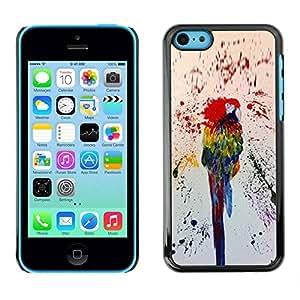 LASTONE PHONE CASE / Carcasa Funda Prima Delgada SLIM Casa Carcasa Funda Case Bandera Cover Armor Shell para Apple Iphone 5C / Colorful Paint Splashes Rainforest