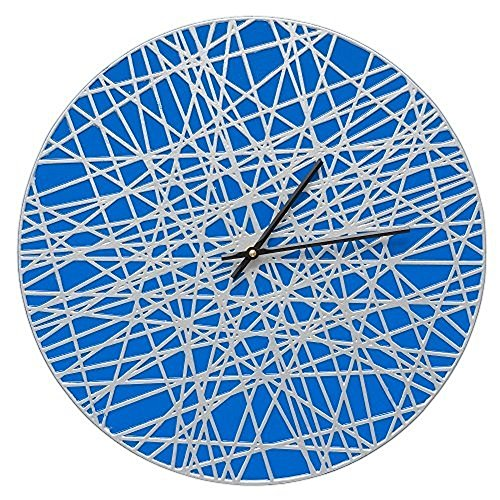 Whitehall Banded 16'' Indoor Outdoor Wall Clock (Dark Blue/Silver) by Whitehall