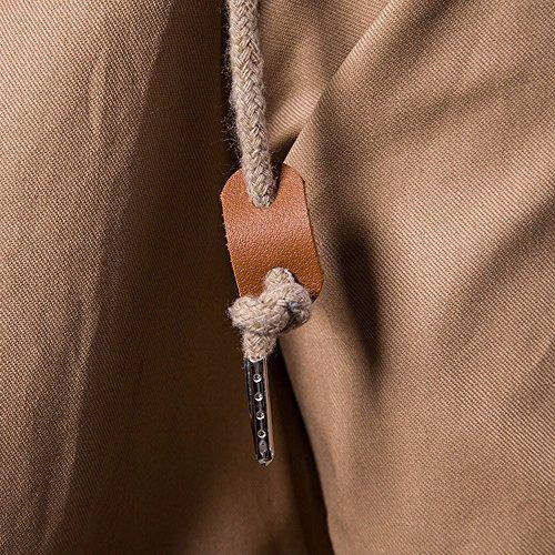 Viaggio Cappuccio Con Trench Pioggia Antivento Dettaglio Trekking Packable Incappucciato Kaki Lungo Leggera Cerniera Tasca Harrystore Giacca Giacca Uomini Con Impermeabile Impermeabile 6F5S7qw