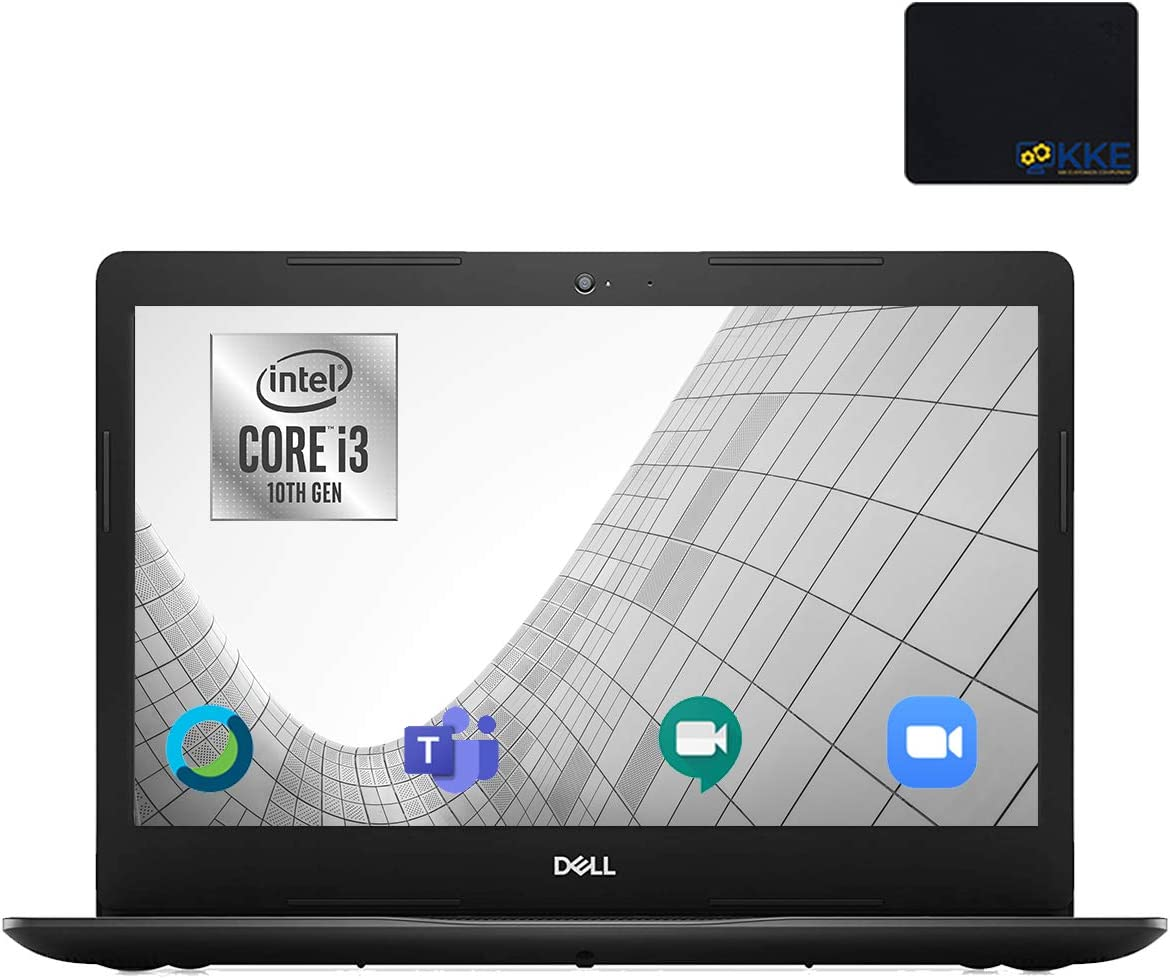 "Dell Inspiron 14"" HD Laptop, Intel i3-1005G1, 8GB DDR4 Memory, 1TB HDD, Online Class Ready, Webcam, WiFi, HDMI, Bluetooth, KKE Mousepad, Win10 Home, Black"