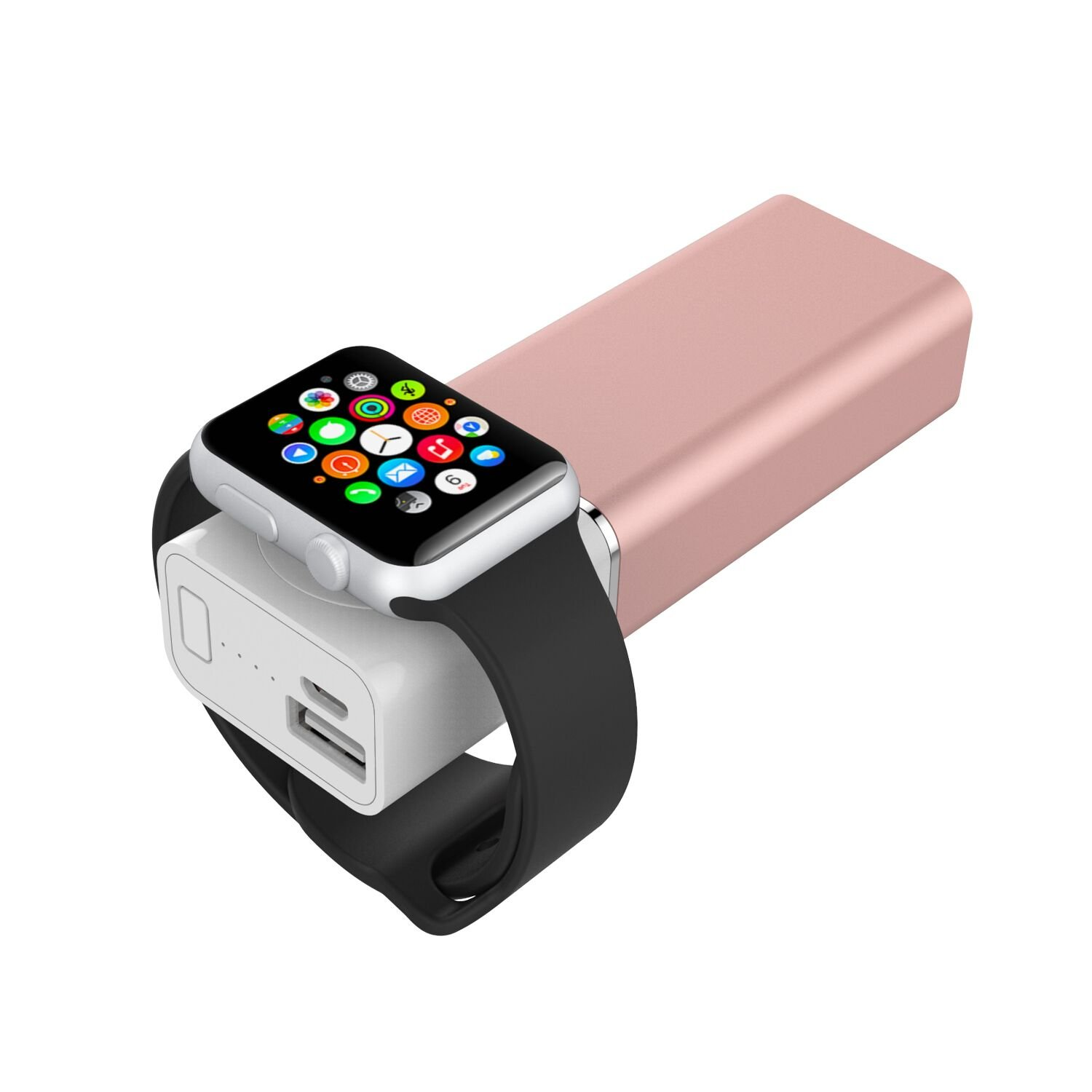 Element Works USA EW-AWPB2-RG Dual USB Portable Charger and External Battery Pack for Apple Watch in Rose Gold