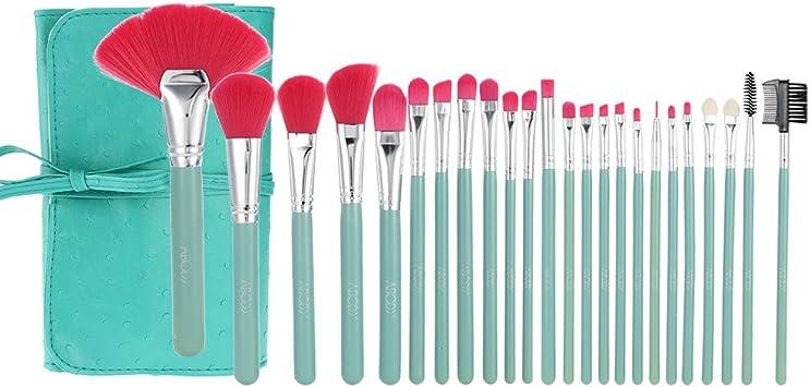 Abody 24Pcs Set de brochas muy suaves para maquillaje cosmético ...