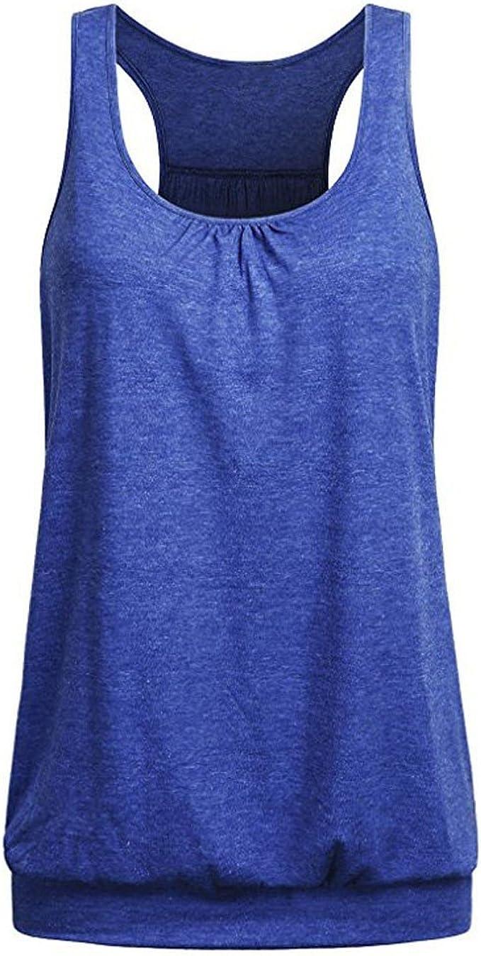 Womens Sports Yoga Workout Running Fitness Vest Shirt Tank Blouse Tunic Tops New