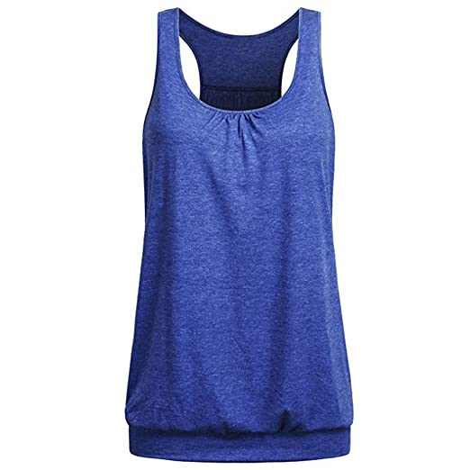 63e7eed4d7555 Womens Sporting Vest Tank Fitness Workout Tops,Sleeveless Shirts Exercise Gym  Yoga Quick Drying Loose