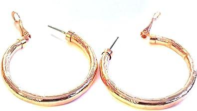 Amazon Com Rose Gold Earrings 1 5 Inch Hoop Earrings Hypo Allergenic Jewelry