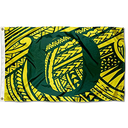 College Flags and Banners Co. Oregon Ducks Samoan Pattern Flag