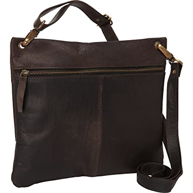 7c3d02a4e815 Sharo Leather Bags Women s Dark Brown Cross Body Bag (Dark Brown)  Handbags   Amazon.com