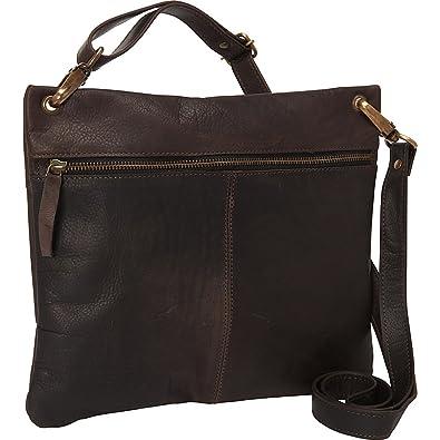 Sharo Leather Bags Women s Dark Brown Cross Body Bag (Dark Brown)  Handbags   Amazon.com 0dbbc693b2f7